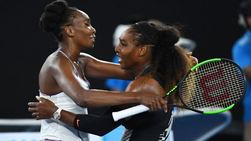 Serena Williams of the United States is congratulated by Venus Williams of the United States after winning the Women's Singles Final