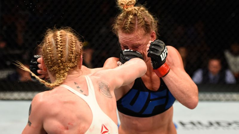 Holly Holm, right, lost the bantamweight bout to Valentina Shevchenko at UFC Fight Night in July -- Holm's second loss in a row.