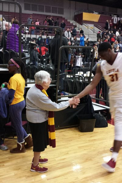Sister Jean can't walk more than 10 feet in Gentile Arena without someone saying hello.