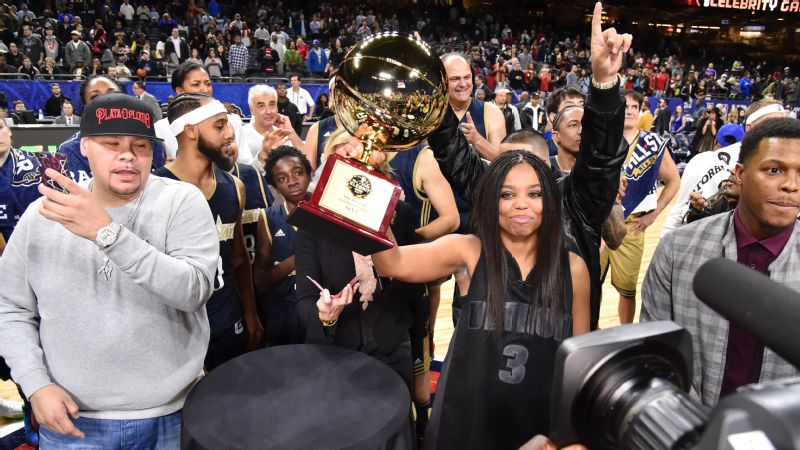 Jemele Hill's East Team dominated Micheal Smith's West squad at the NBA All-Star Celebrity Game.
