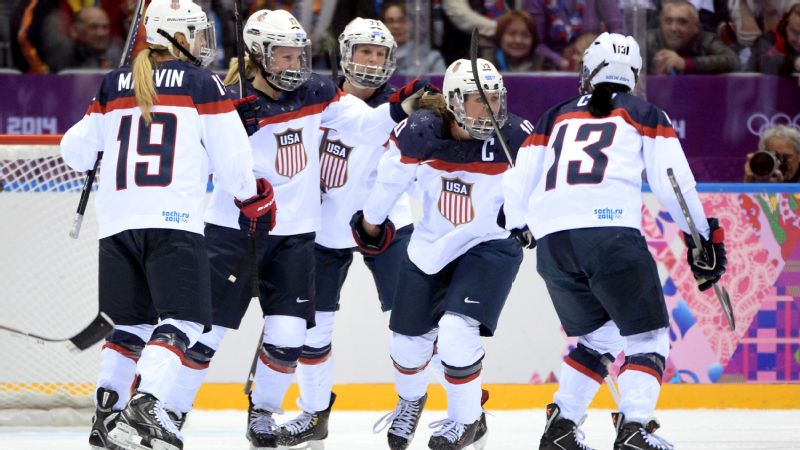 U.S. women's hockey team