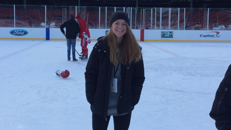 Kathryn Yates analyzed the biomechanics of a field hockey shot for her senior thesis at Brown. Years later, she turned her love for math, science and sports into a job with Boston University's men's ice hockey team.