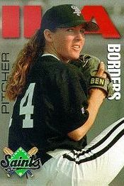 Borders' 1997 St. Paul Saints rookie card.
