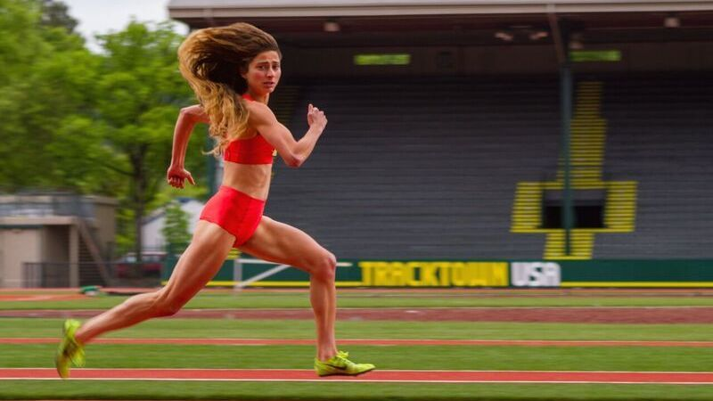 Olympian Alexi Pappas plays a young runner named Plumb Marigold in her new coming-of-age film, Tracktown.