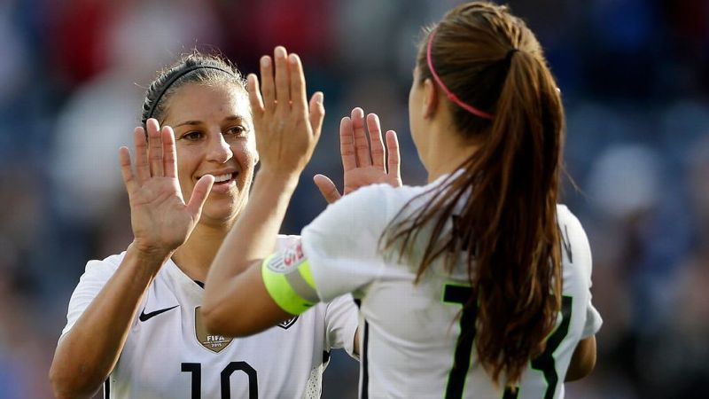 There will be no high-fives in match play for Carli Lloyd and Alex Morgan when they face each other in the Champions League semifinal.
