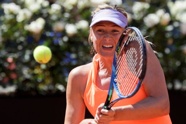 Maria Sharapova has played in Stuttgart, Madrid and Rome since her return from a doping ban, but the French Open opted not to invite the two-time champ. Said French Tennis Federation president Bernard: There can't be a wild card for return from doping.
