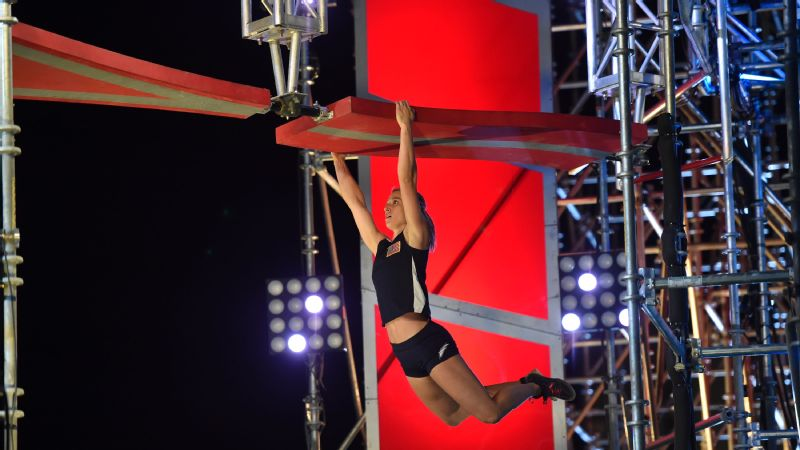 Jessie Graff is the first woman to compete in the USA vs. The World competition.