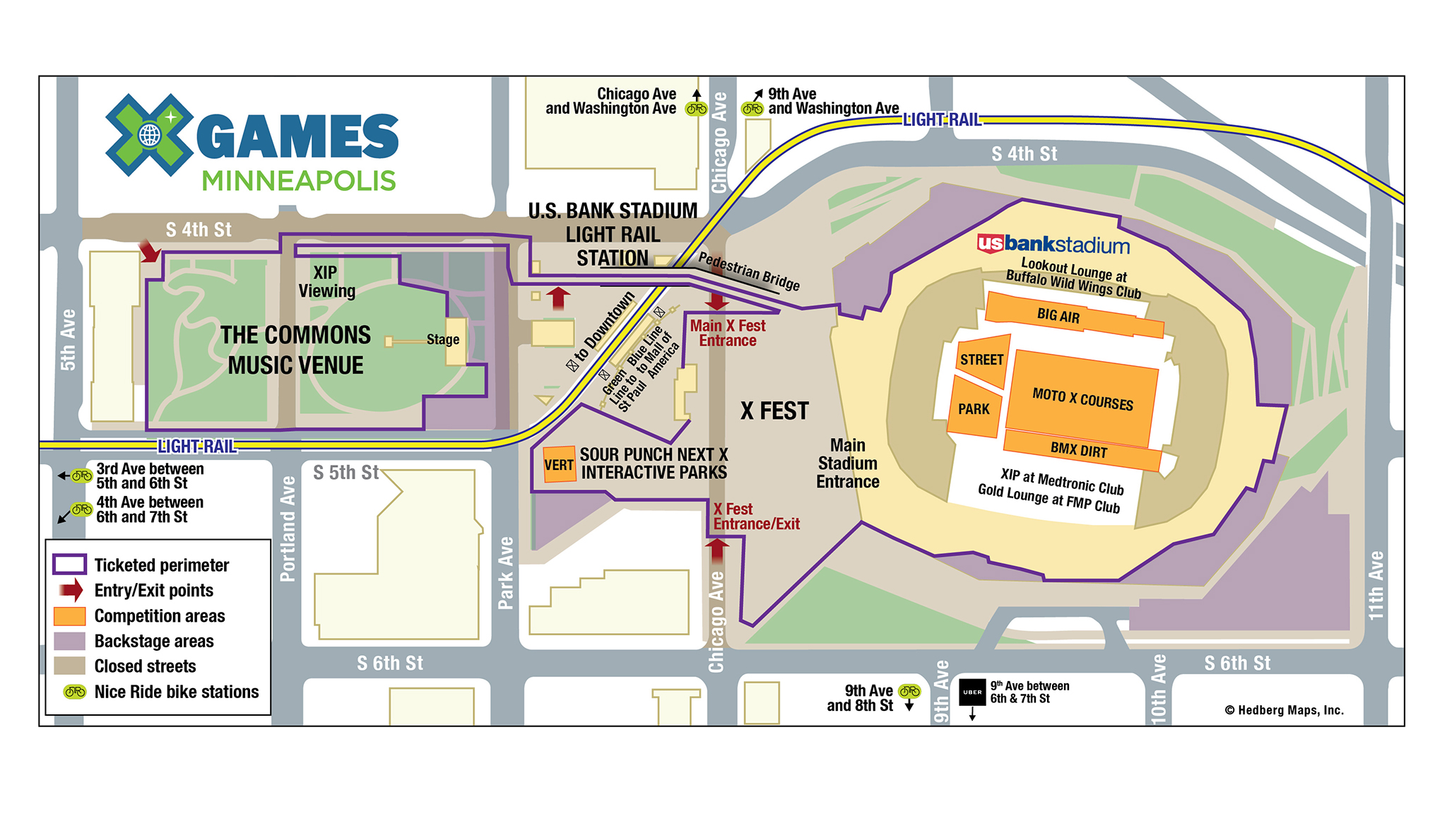 X Games Minneapolis Venue Hours Parking And Transportation - Parking map us bank stadium