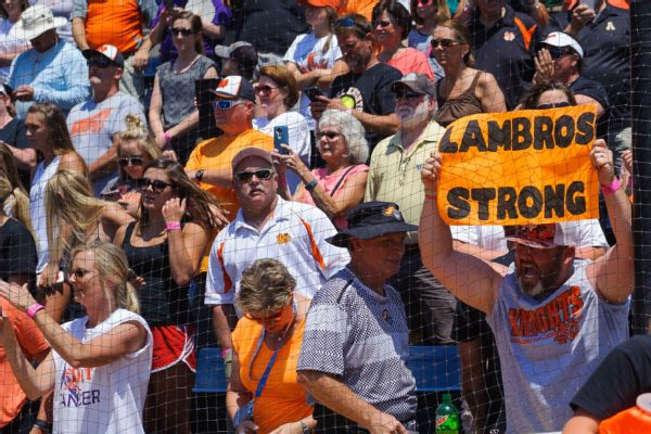 From his cancer diagnosis to the death of his mother, Mike Lambros was incredibly gracious for how the North Davidson High School community rallied around him.