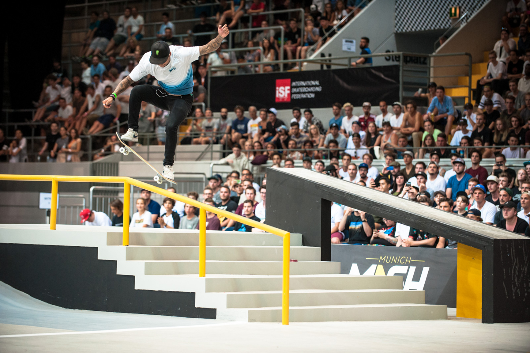 I've never broken a bone, says Nyjah Huston, who added to his list of wins with another win at the 2017 Street League Munich stop in late June.