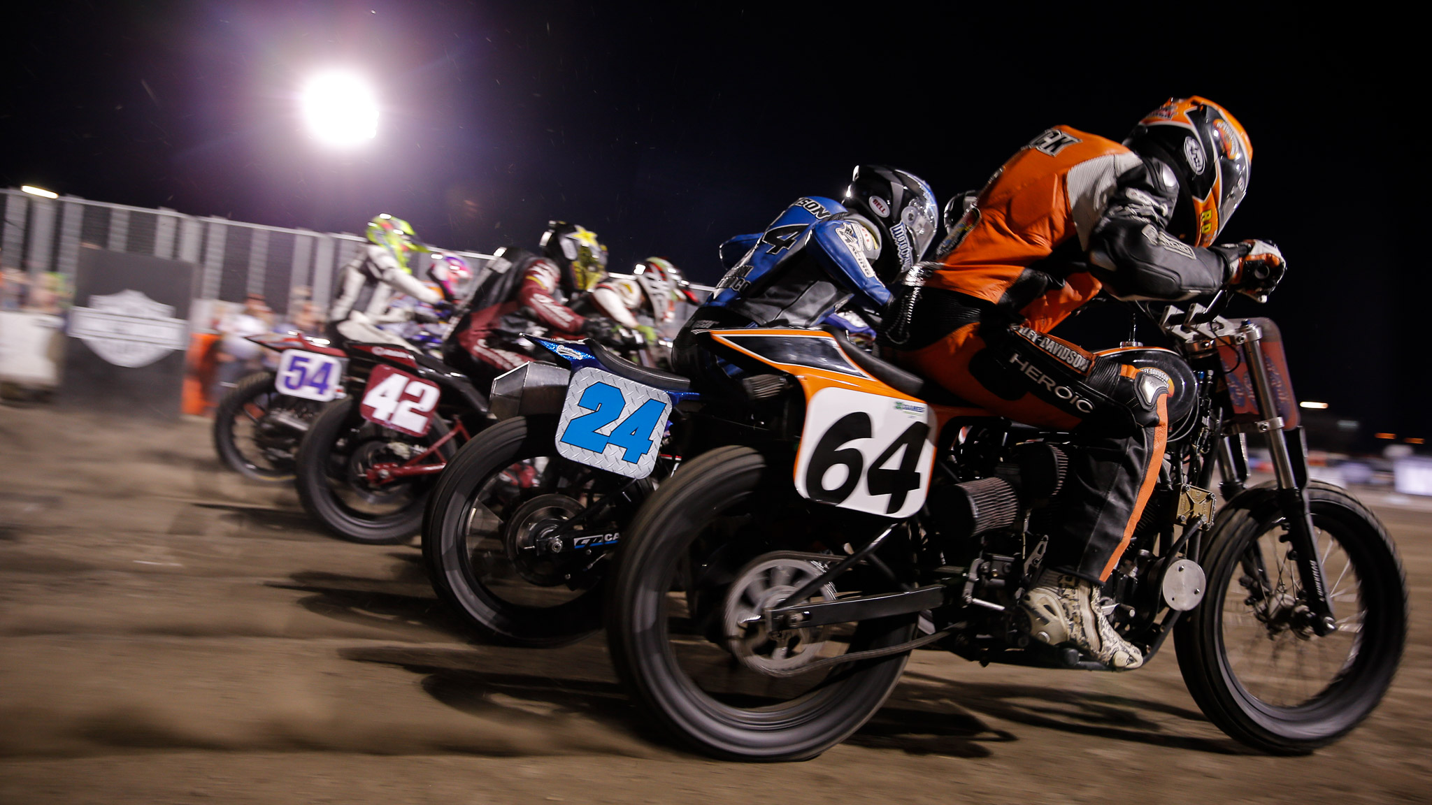 X Games kicked off the first of four days in its new summer home of Minneapolis on Thursday with a bonanza of events, starting with skateboarding and finishing with Harley-Davidson Flat Track Racing, in which Sammy Halbert (No. 69, not pictured) took the win.