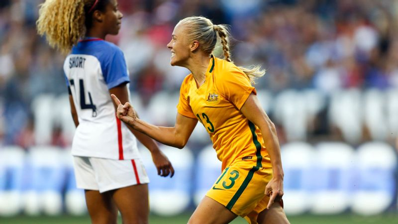 Australia was 0-25-2 all-time against the U.S. women, but Tameka Butt's goal in the 67th minute Thursday helped the Matildas score their first win in the series.