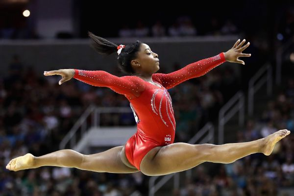 Simone Biles will seek a fourth all-around title at the world championship in Qatar.