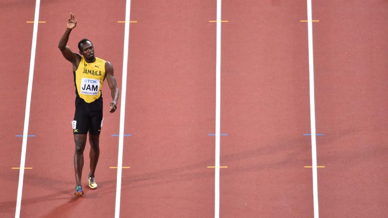Bolt waved goodbye to athletics at this year's World Championships.