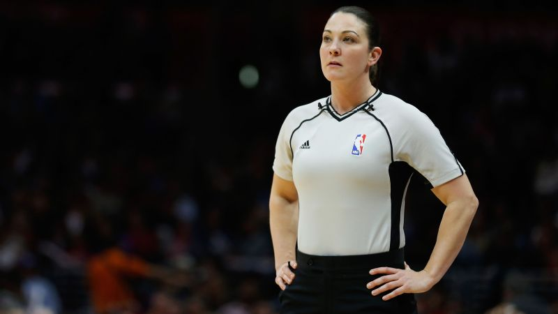 Lauren Holtkamp's first paid refereeing gig was at the middle-school level in Springfield, Missouri. Ten years later, she's traveled across the country officiating NBA games.
