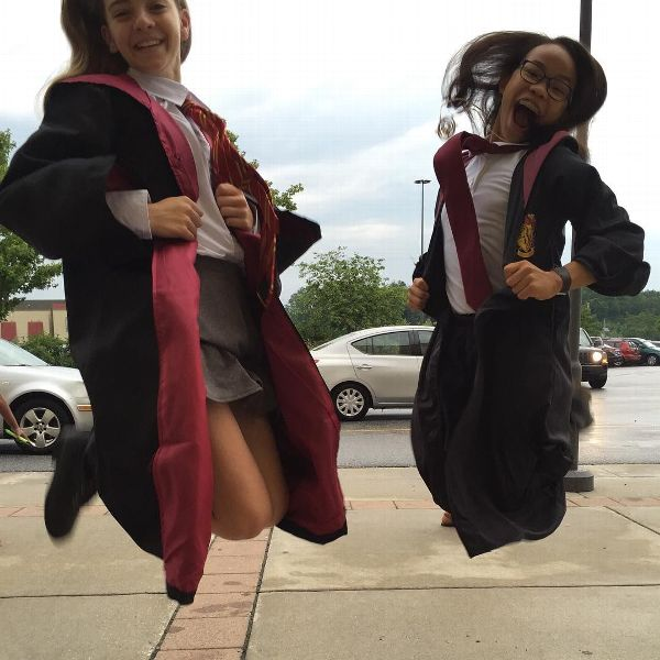 Morgan Hurd is a self-described Harry Potter junkie -- which includes waiting in long lines to get the new books, and of course, dressing up in character.