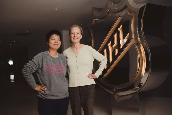 Po-Chun Liu and Susan Cohig were partnered for the Global Sports Mentoring Program.