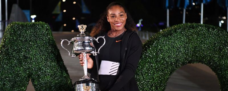 Serena Williams after winning the Australian Open in 2017.