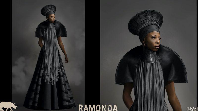 An inspiration sketch for Queen Ramonda.