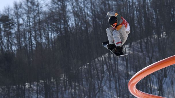Red Gerard fell on his first two attempts in Sunday's slopestyle finals, but he certainly made his third and final attempt count.