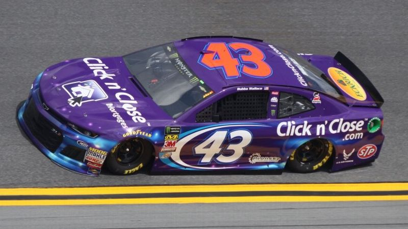 Bubba Wallace in the #43 Click n Close Chevy for the Daytona 500 at Daytona International Speedway