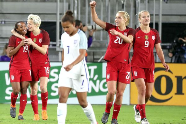 U.S. down England to win SheBelieves Cup