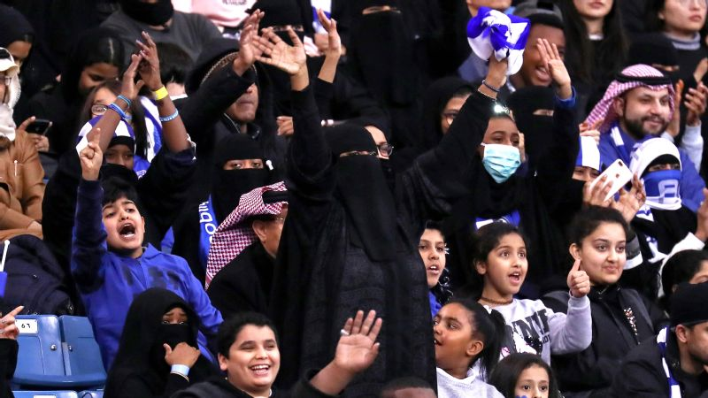 In January, major sporting events in Saudi Arabia were opened to women for the first time.