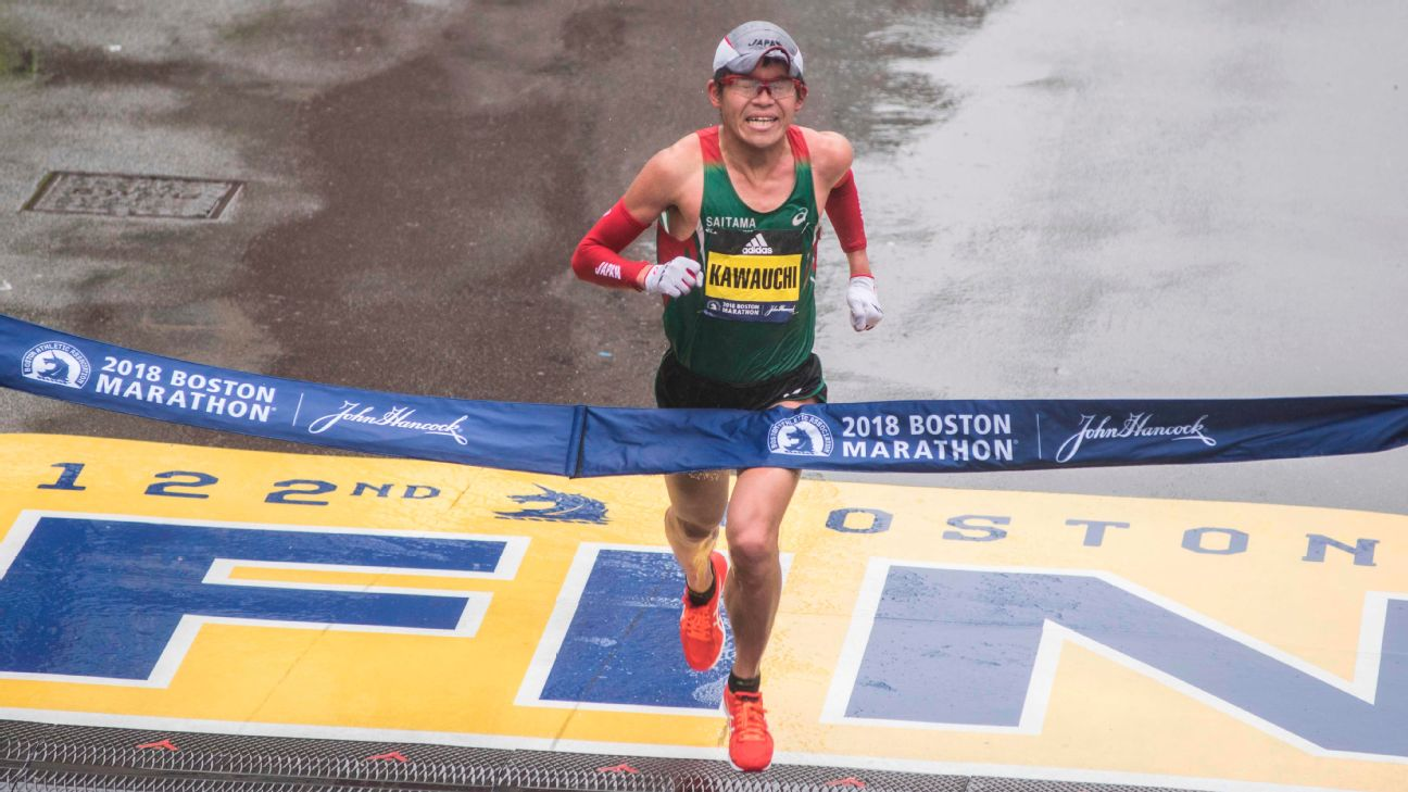 Yuki Kawauchi became the first Japanese man to win the Boston Marathon since 1987, the year he was born.