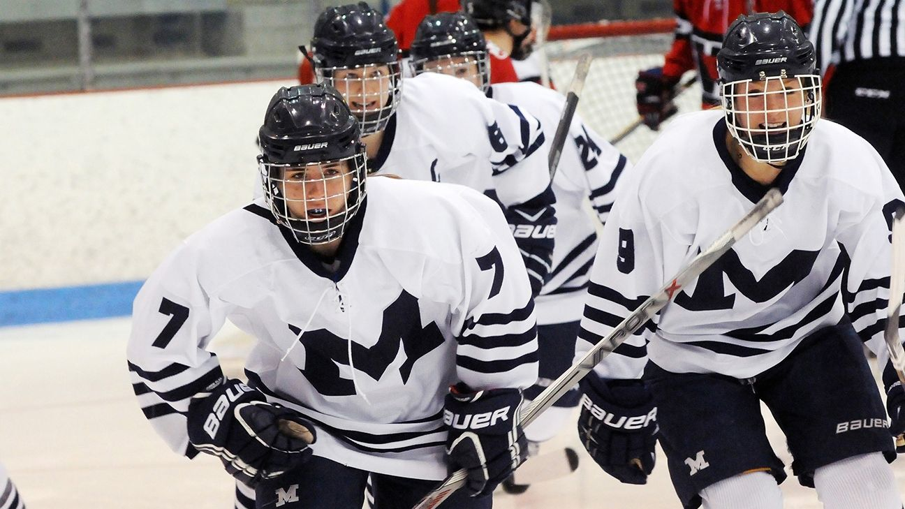 Middlebury center Elizabeth Wulf wears her mother's favorite number (7) onto the ice during her senior season.