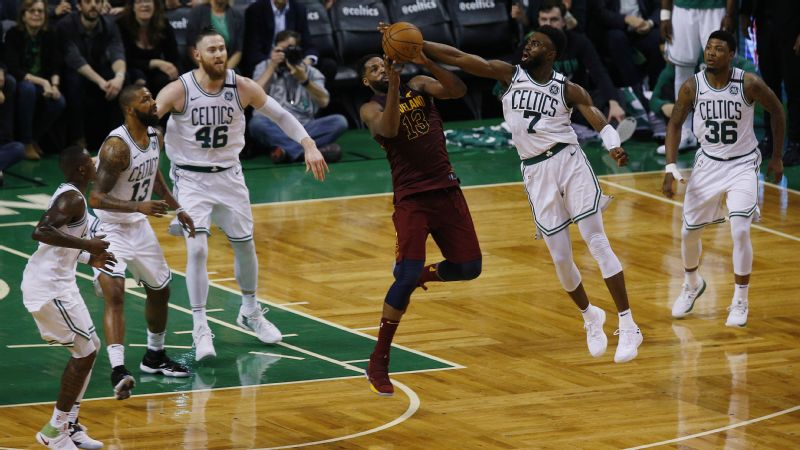 Jaylen Brown and the Celtics outhustled the Cavs on 50-50 plays again in Game 2.