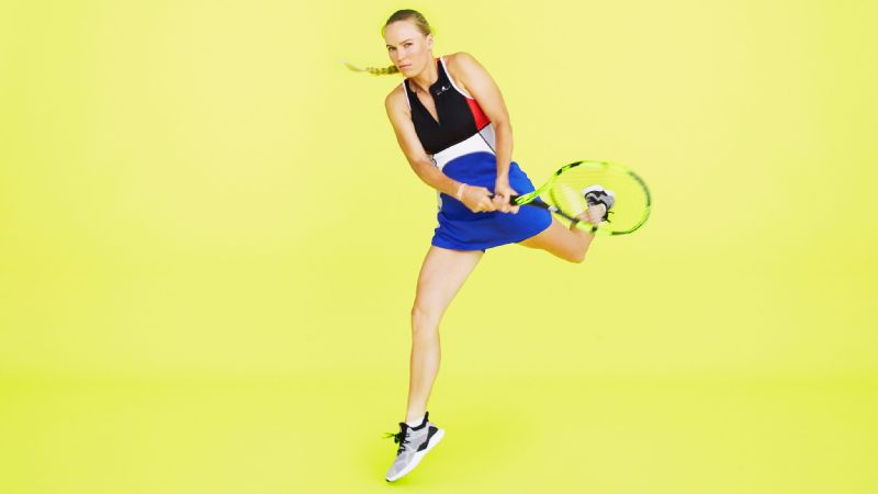 Caroline Wozniacki, photographed in studio, Monday, April 9th, 2018