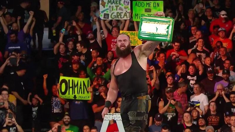 Braun Strowman won the 2018 Money in the Bank ladder match and earned a title shot.