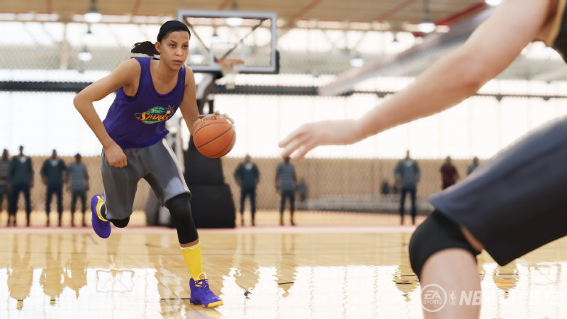 Candace Parker will be one of three WNBA players featured as an icon in NBA Live 19.