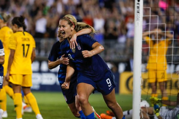 Lindsey Horan's late goal to tie Australia extended the U.S. women's national team's unbeaten streak to 18 games.