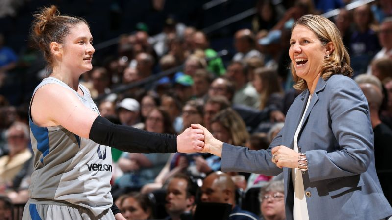 Lindsay Whalen with Cheryl Reeve