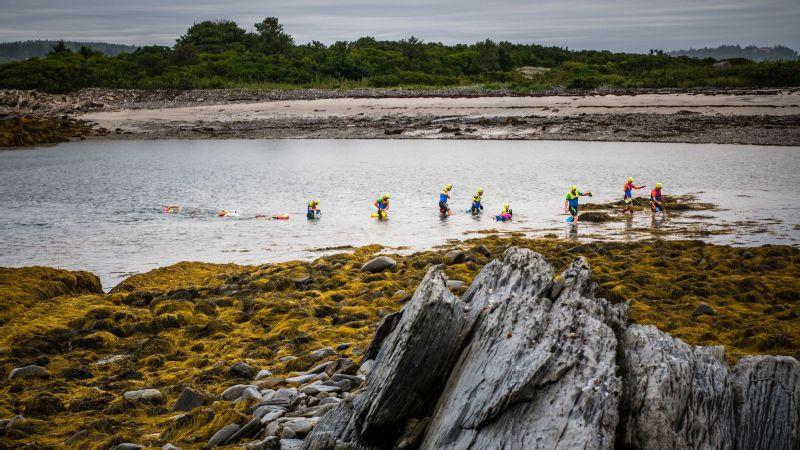 SwimRunners trek from sea to land.