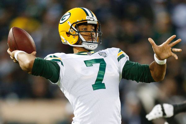 Brett Hundley, who started nine games while Aaron Rodgers was injured, averaged 7.5 yards per rushing attempt last season -- the most among all quarterbacks with at least 35 attempts.