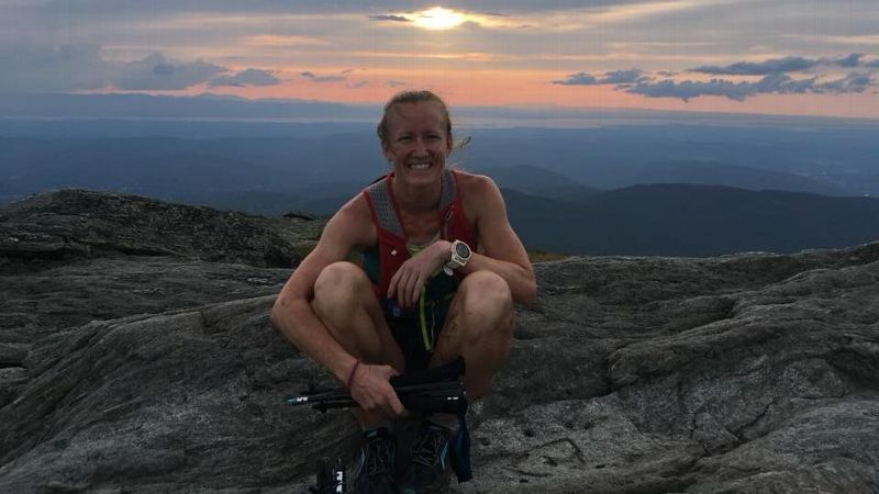 Alyssa Godesky slept only about 17-18 hours during her five-day record hike.