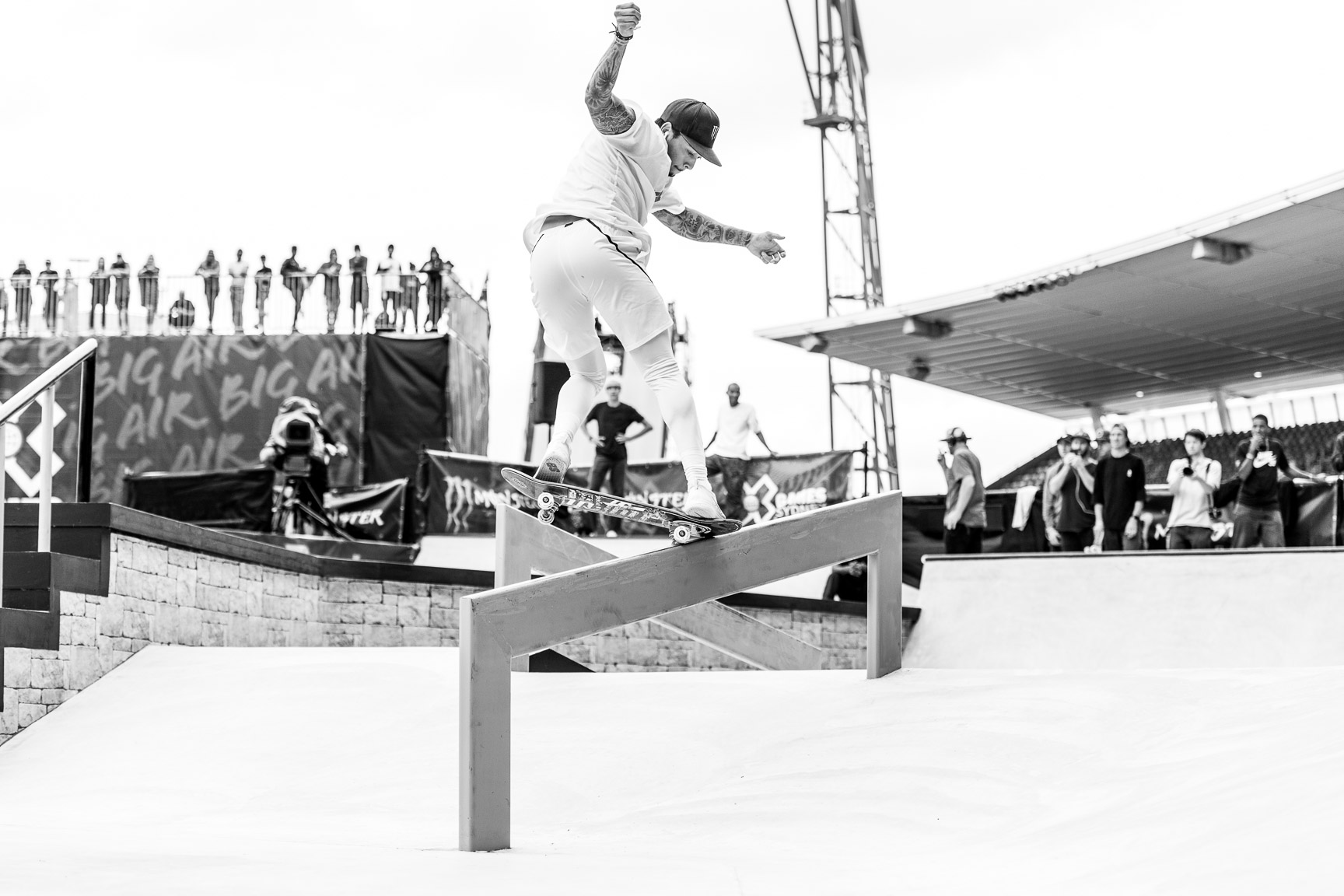 Although the masses will argue about Nyjah Huston's decision to wear compression pants in the Men's Skateboard Street finals, no one can argue with his inherent skate talent. At X Games Sydney, Huston delivered two of the most technically progressive and groundbreaking runs in skate history. Chalk up another gold medal for Huston, and watch for a compression pant trend to emerge in skate.