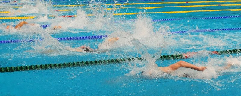 General view of the action during swimming on day three