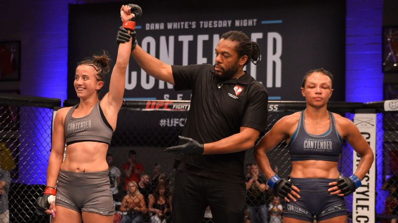 UFC debutant Maycee Barber, 20, plans a record climb to ...