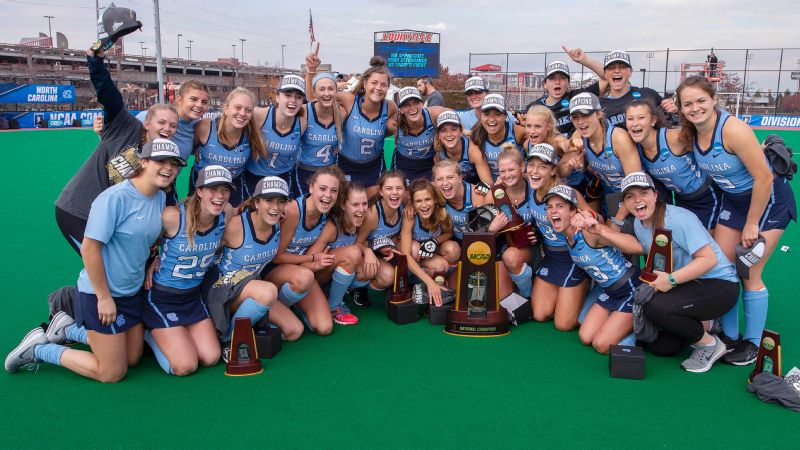 UNC field hockey trophy