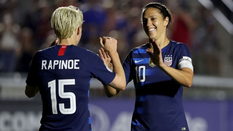 Carli Lloyd and the U.S. women's national team will look to defend their title at the 2019 FIFA Women's World Cup.