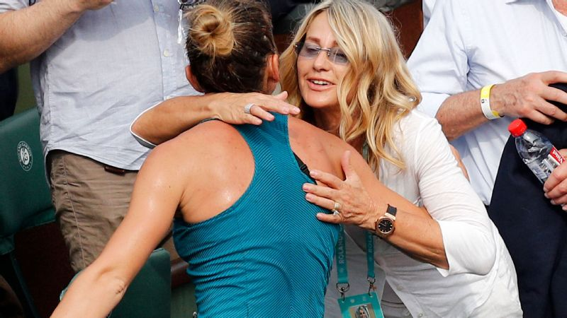 Five-time Olympic gold medalist Comaneci tries to watch Halep whenever her schedule allows. Last year, the pair went shopping  and caught a Broadway show at the U.S. Open.