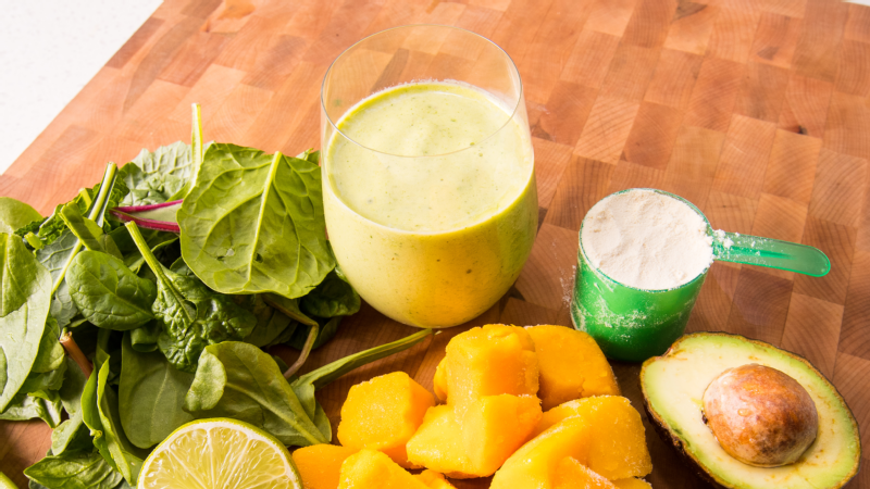 What athletes eat: CrossFit champ Camille Leblanc-Bazinet's mango and greens protein smoothie