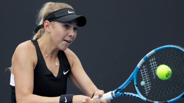 Amanda Anisimova won her first career Grand Slam match this week at the Australian Open.