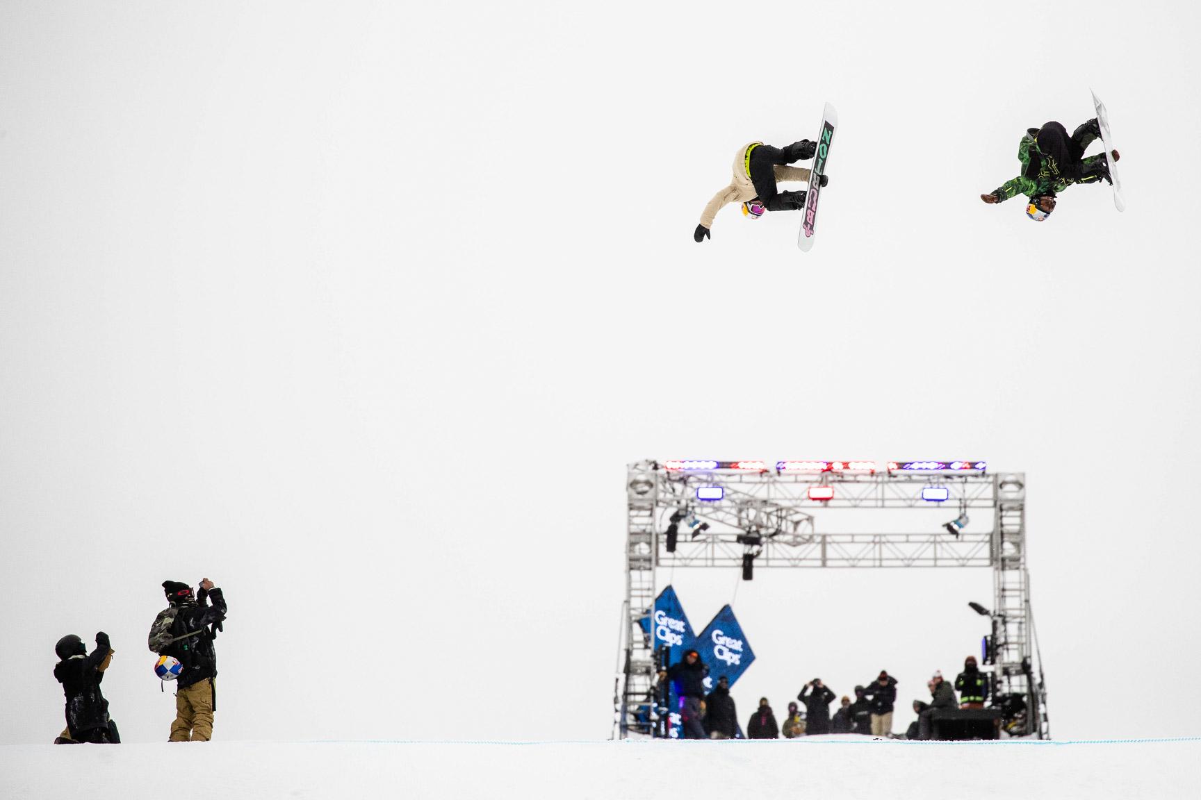 Takeru Otsuka, Yuki Kadono, Snowboard Big Air Practice