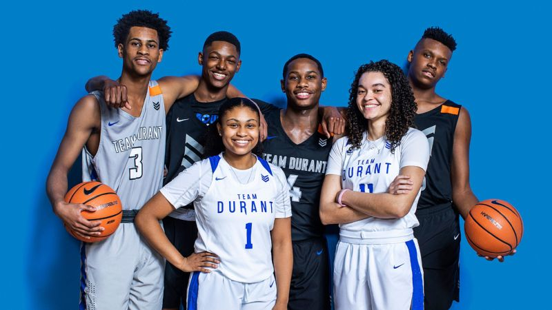 These Team Durant AAU players have big smiles and even bigger dreams.