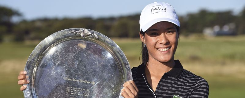 Celine Boutier is ranked 123rd in the world but carded an even-par 72 to win the LPGA's Vic Open tournament by two strokes on Sunday.