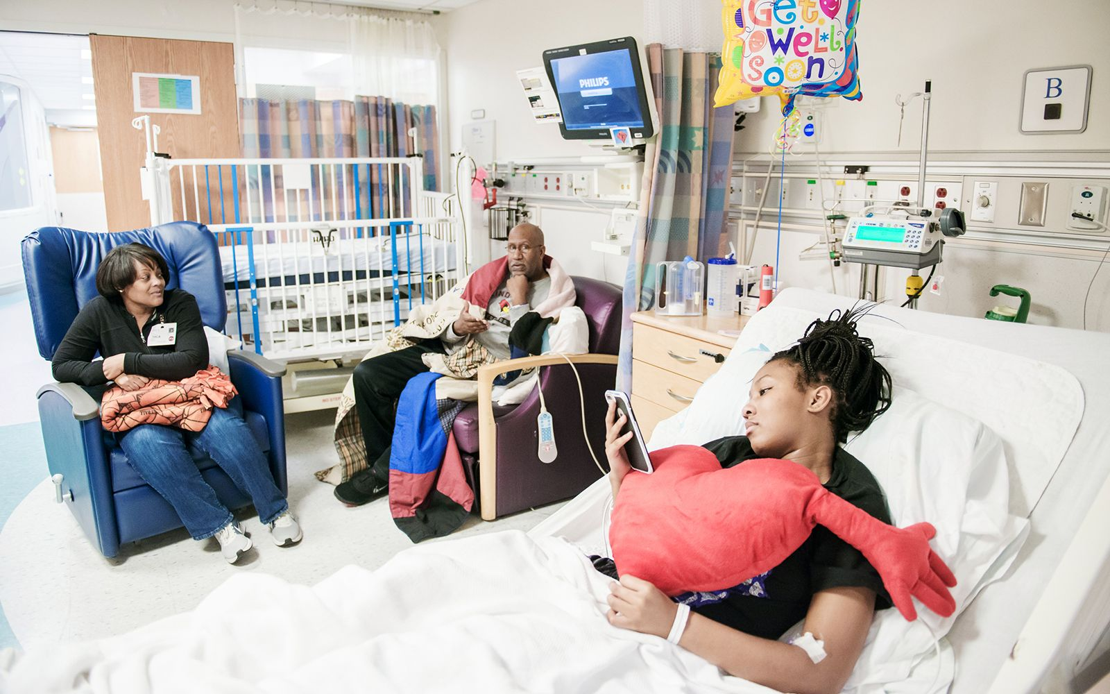 Kaylah Rainey had to ask visitors not to make her laugh because the post-operation pain was so severe.